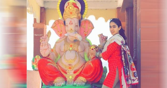 गणेश चतुर्थी पर गणपति बप्पा के साथ फोटो डालने पर ट्रोल हुईं सारा, लोगों ने कहा- शर्म करो जो..