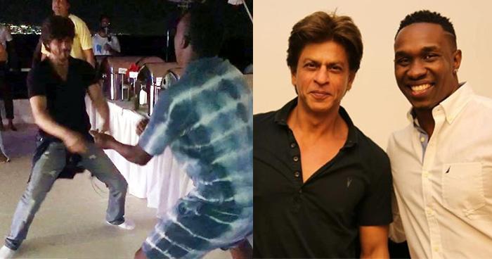 शाहरुख खान के साथ ब्रावो का 'लुंगी डांस' ने मचाया तहलका, तेज़ी से वायरल हुआ वीडियो