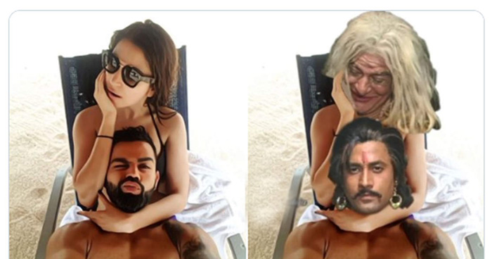 Photo of अनुष्का ने शेयर की विराट संग रोमांटिक फोटो, लोगो ने बना दिया 'विक्रम बेताल' देखे funny तस्वीरें