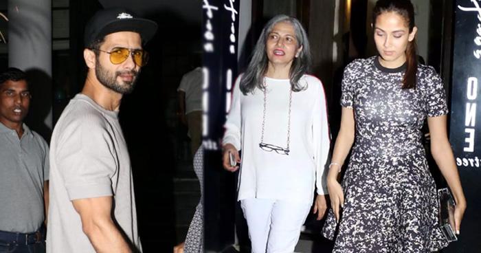 Photo of पत्नी और सास के साथ डिनर करने पहुंचे शाहिद कपूर, मीरा से ज्यादा स्टनिंग दिखीं उनकी मां