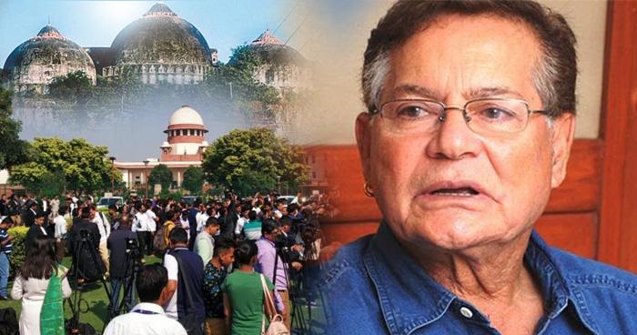 अयोध्या पर आए फैसले पर सलमान के पिता ने दिया बड़ा बयान, कहा- 5 एकड़ जमीन पर मस्जिद नहीं बल्कि..