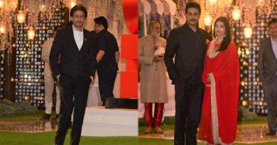 अंबानी के घर शादी पार्टी में शाहरुख से लेकर ऐश्वर्या का दिखा ऐसा अंदाज, देखिए शानदार तस्वीरें