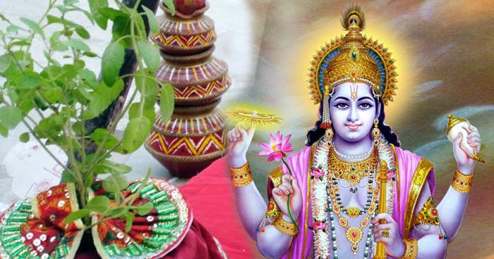Photo of तुलसी ने दिया था भगवान विष्णु को पत्थर बनने का श्राप, जानें श्राप से जुड़ी पूरी कथा