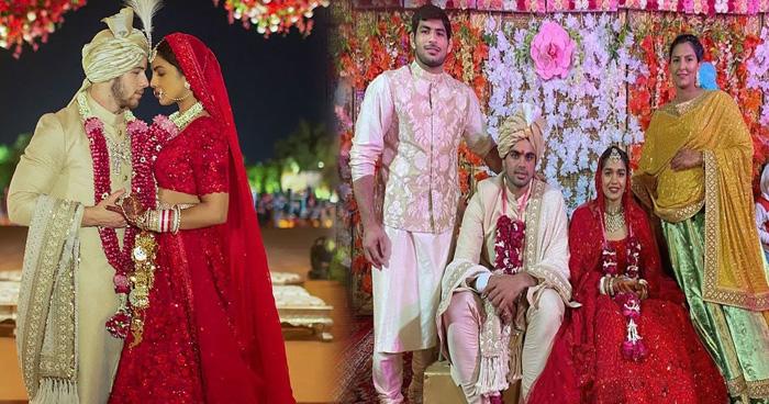Photo of बिल्कुल प्रियंका जैसा लहंगा पहन दुल्हन बनी बबीता फोगाट, देखिए शादी और मेहंदी की ये खास तस्वीरें