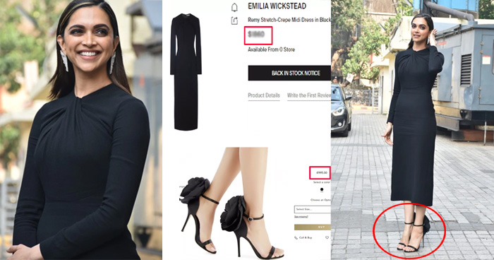 Photo of 'छपाक' ट्रेलर लॉन्च में दीपिका ने ढाया कहर, ब्लैक ड्रेस और सैंडिल की कीमत जान आ जाएँगे चक्कर