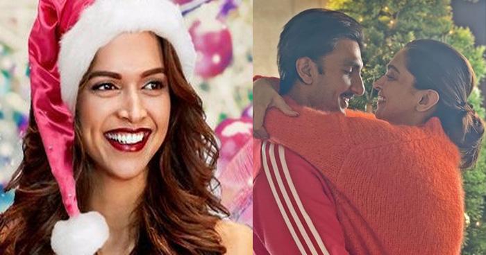 Photo of क्रिसमस पर बेकाबू हुए रणवीर सिंह, बीवी दीपिका को इस जगह चूमा, तस्वीरें वायरल