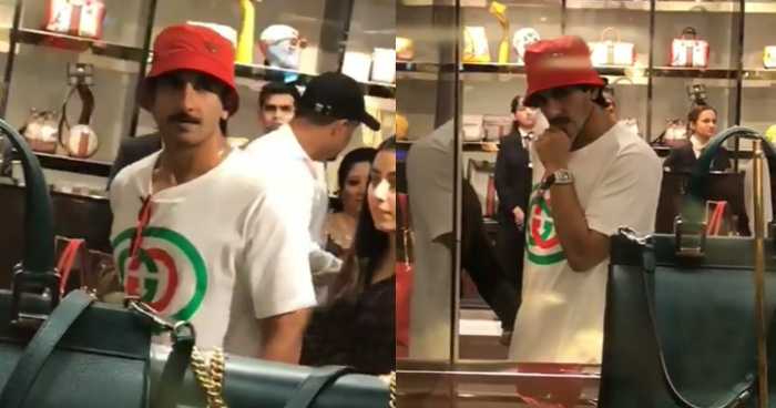 Photo of पत्नी के लिए शॉपिंग करने पहुंचे रणवीर सिंह, तेज़ी से वायरल हुआ वीडियो