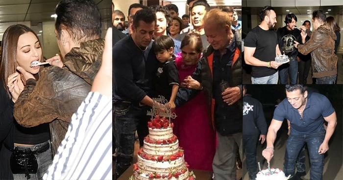 Photo of दोस्त-परिवार संग भाईजान ने मनाया अपना 54वां जन्मदिन, केक काटते हुए वायरल हुआ विडियो