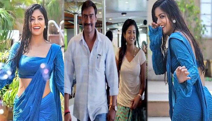 Photo of नीली साड़ी में भीगती हुई बेहद खूबसूरत लग रही हैं अजय देवगन की ऑनस्क्रीन बेटी, शेयर की तस्वीरें