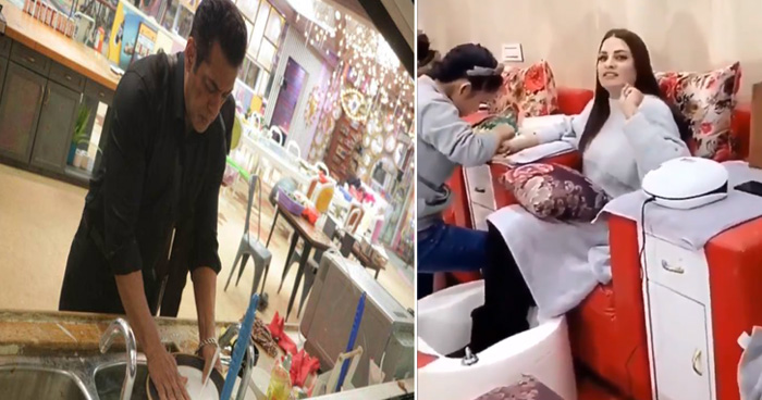Photo of सलमान खान ने बिग बॉस के घर में धोये बर्तन तो हिमांशी ने उड़ाया मजाक, कहा- 600 करोड़ लेते हैं..