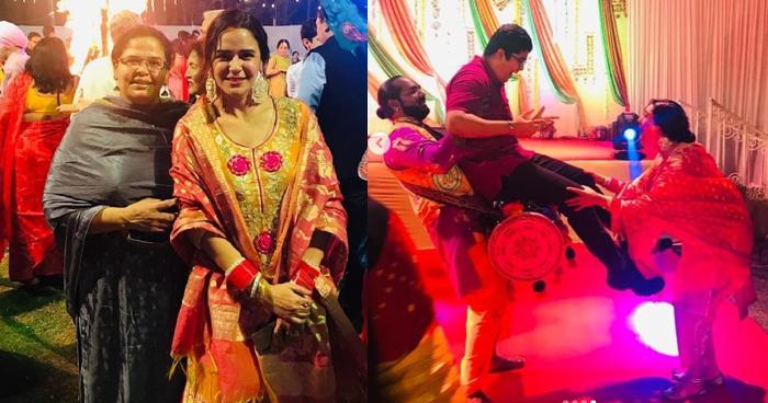 शादी के बाद मोना ने मनाई अपनी पहली लोहड़ी, हाथ में चूड़ा और पंजाबी सूट में खूबसूरत दिखीं 'जस्सी'