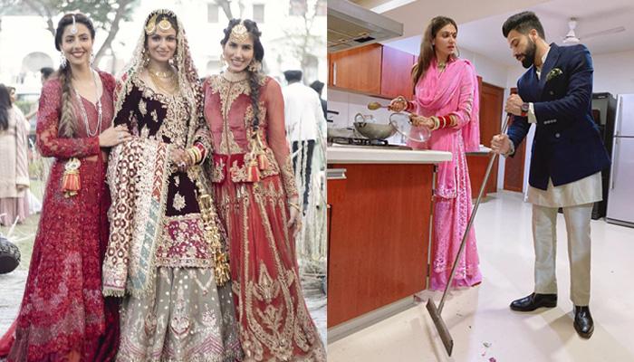 Photo of गुरदास की बहू ने पति से लगवाया पोंछा, सामने आई शादी के बाद की पहली तस्वीर
