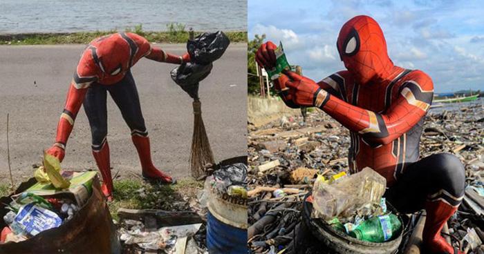 ये हैं रियल जिंदगी के सुपरहीरो, स्पाइडरमैन बनकर साफ कर रहे कचरा