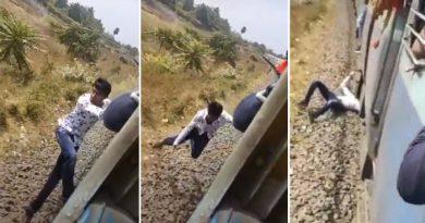 चलती ट्रेन पर स्टंट कर रहे लड़के का फिसला हाथ और हो गया ऐसा, रेल मंत्री बोले-'ये बहादुरी नहीं..'