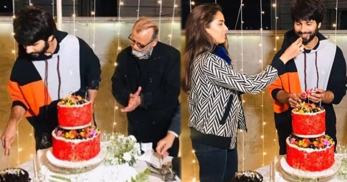 Photo of 39वें जन्मदिन पर पिता और पत्नी के साथ नजर आये शाहिद, जश्न से नदारद दिखे मां और छोटे भाई ईशान