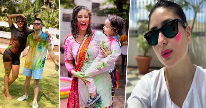 Photo of करीना कपूर से सनी लियोनी तक, देखें बॉलीवुड स्टार्स की रंग-बिरंगी होली की तस्वीरें