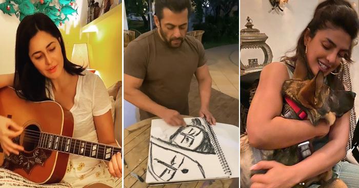 Photo of खाली समय में ये काम कर रहे बॉलीवुड सितारे, कोई बना रहा पेंटिंग तो कोई सीख रहा गिटार