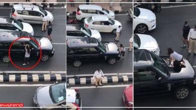 Photo of पत्नी ने पति को गर्लफ्रैंड के साथ पकड़ा रंगे हाथों फिर पत्नी ने किया ऐसा कि रुक गई मुम्बई की सड़क