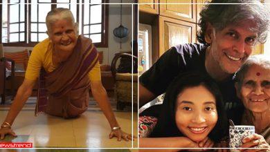 Photo of माँ के 81वें जन्मदिन पर मिलिंद सोमन ने लगवाए 15 पुश अप्स, Video देख हैरान रह गए लोग