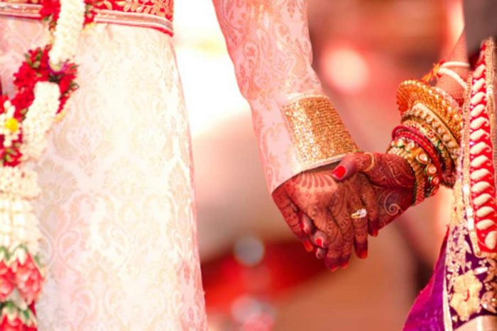 marriage bride groom hand
