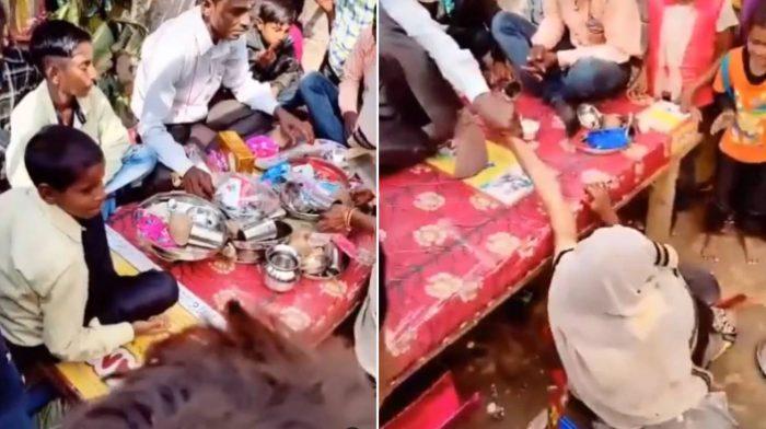 woman slaps groom