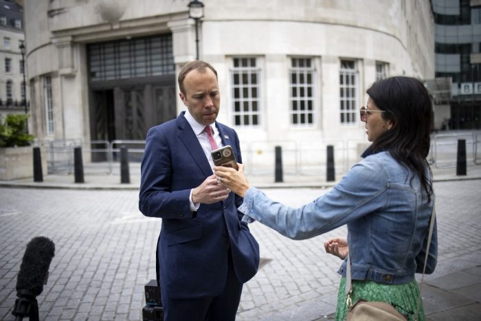 British Health Minister matt hancock