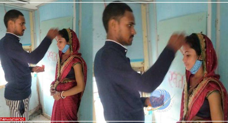 bihar bhagalpur couple got married in train