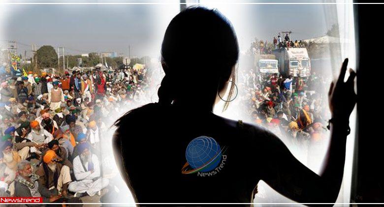 harassment girl tikri border kisan andolan
