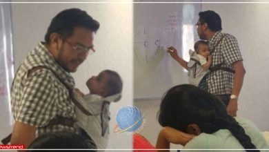 teacher college newborn baby