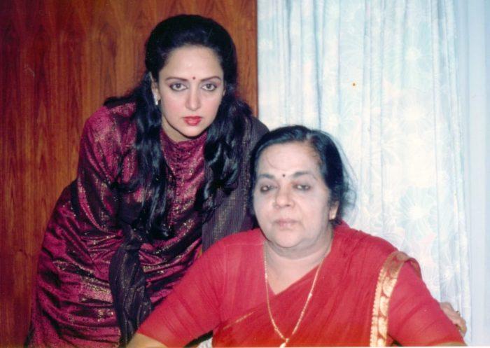 Hema Malini And His Mother