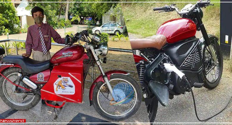 delhi 9th student made e bike