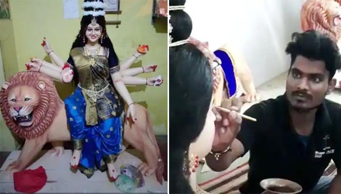 chhindwara-artist-made-a-smiling-living-durga-maa-idol