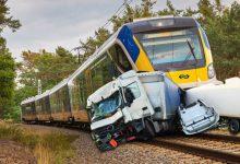 train hitting truck